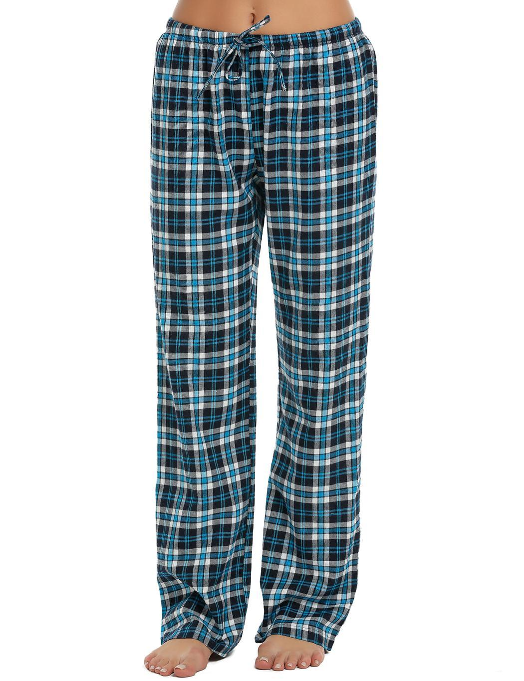 0f130ef510 Details about Women Elastic Waist Plaid Long Pajama Bottom Lounge Pants  Sleepwear