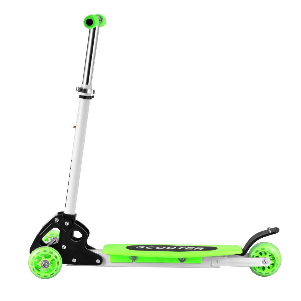 kinder scooter klappbar 3 rad mit led r der tretroller. Black Bedroom Furniture Sets. Home Design Ideas